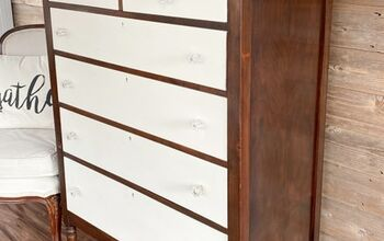 Chipped Veneer Dresser Becomes Two-Toned Beauty
