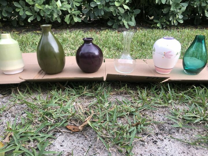 thrift store vases and planter project