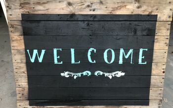 DIY Welcome Sign On Pallet
