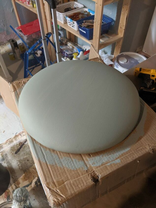 painting a metal and vinyl hand me down bar stool