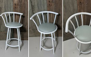 Painting a Metal and Vinyl Hand-Me-Down Bar Stool!