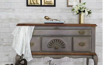 How to Transform Antique Cedar Chest to Entryway/Side Table!