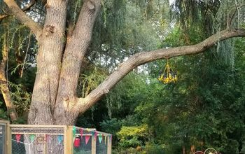 Chandelier in My Tree DIY