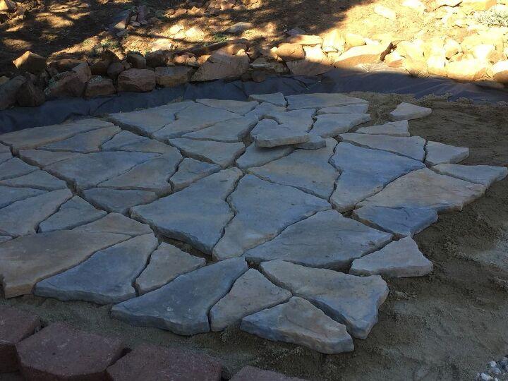 Added flagstone patio