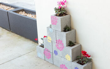Concrete planter blocks
