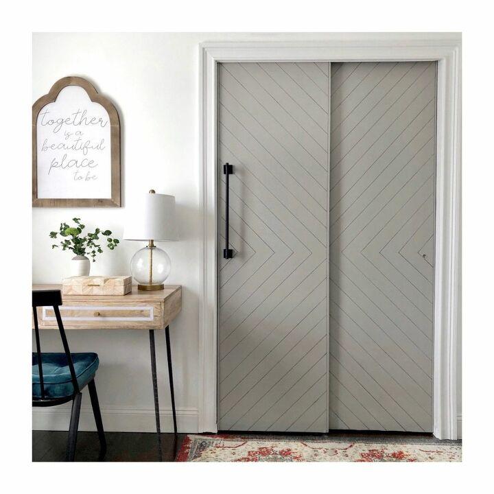 sharpie shiplap closet doors