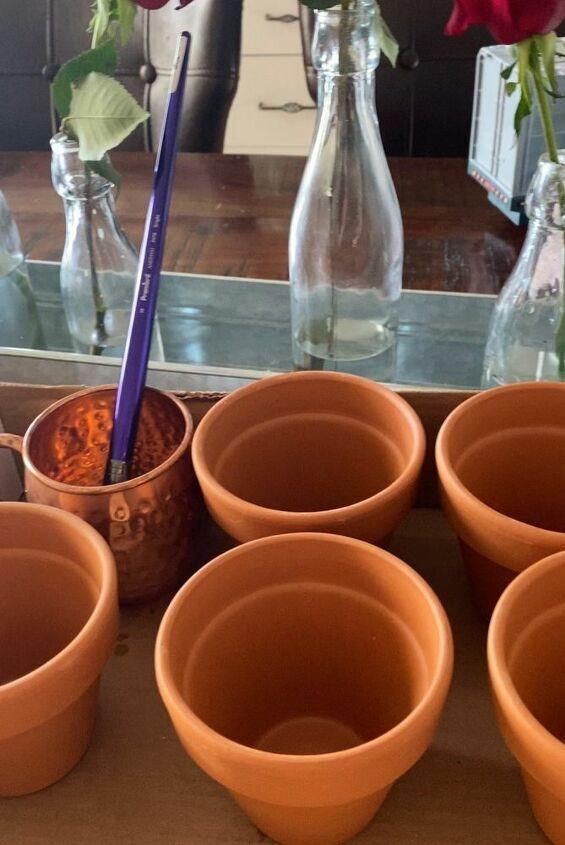 fast easy diy antiquing terracotta pots