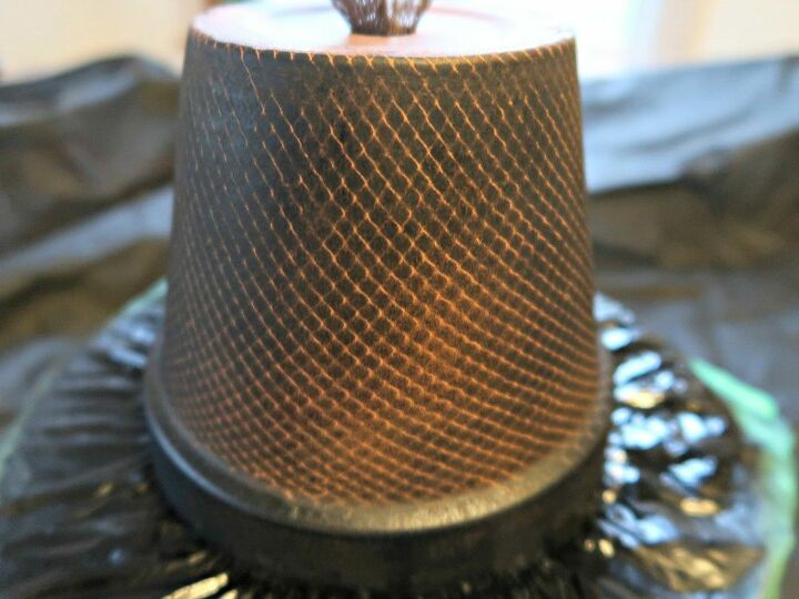 how to decorate terracotta pots with netting