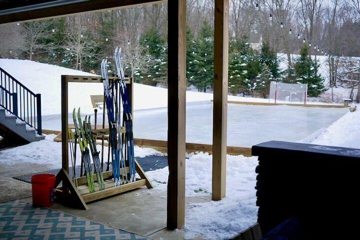 ski hockey stick rack