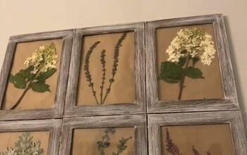 How to Create Beautiful Pressed Flower Wall Art for Under $10