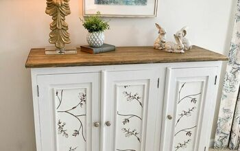 DIY Furniture Makeover | How to Decoupage With Fabric