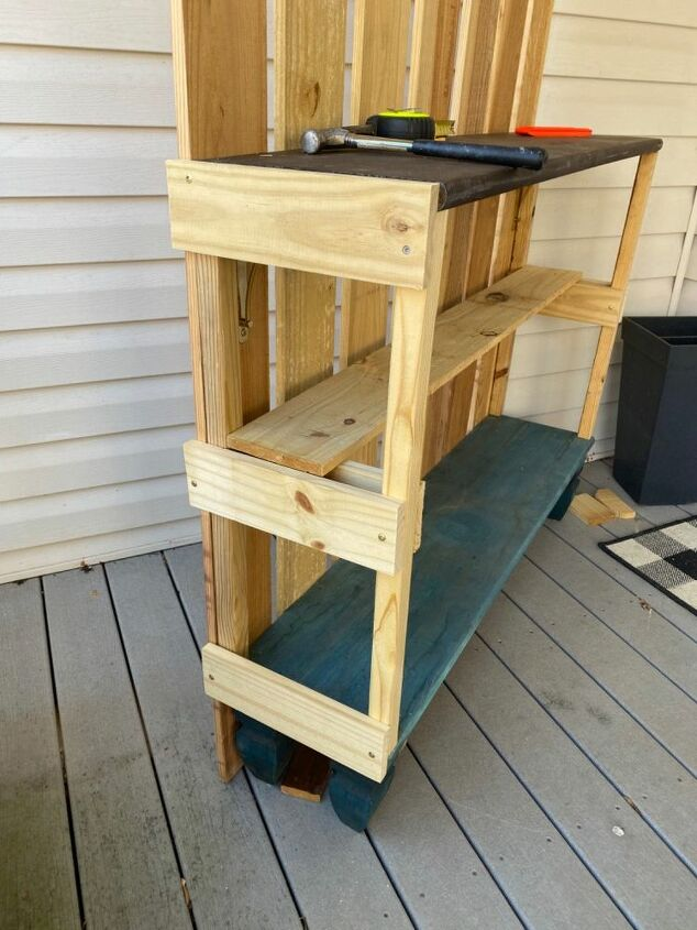 how to build a potting bench