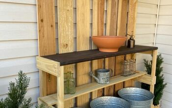 How to Build a Simple Potting Bench.