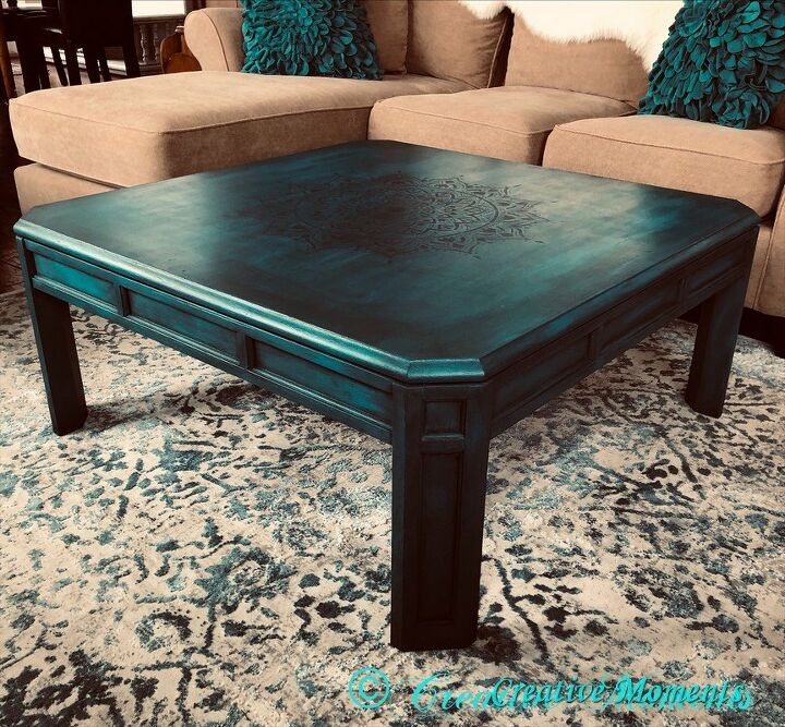 Layers of Teal Coffee Table