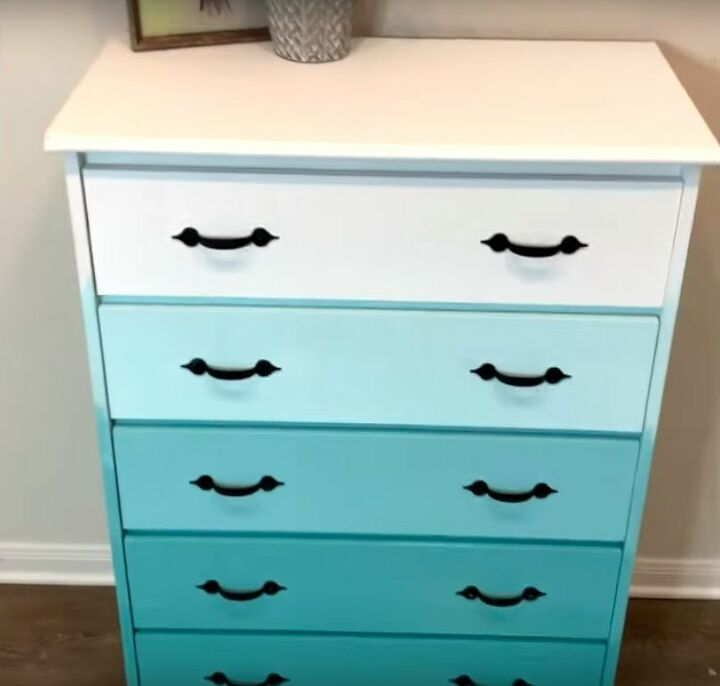 DIY Ombre Painted Furniture