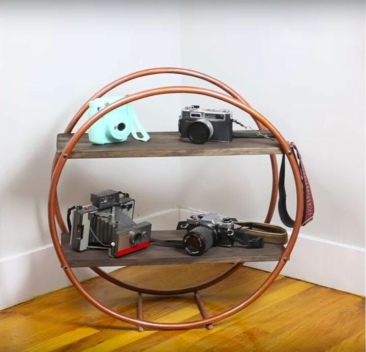 DIY Hula Hoop Shelf