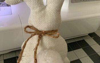 Farmhouse Fabric Bunny!