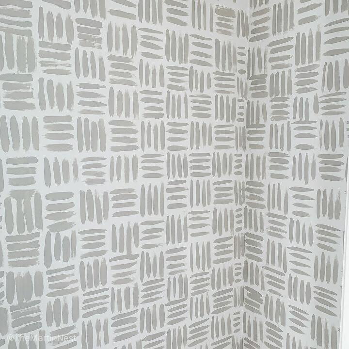 diy handpainted wallpaper