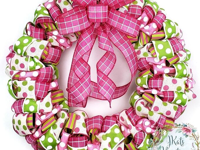 diy ribbon wreath how to make a ribbon wreath tutorial