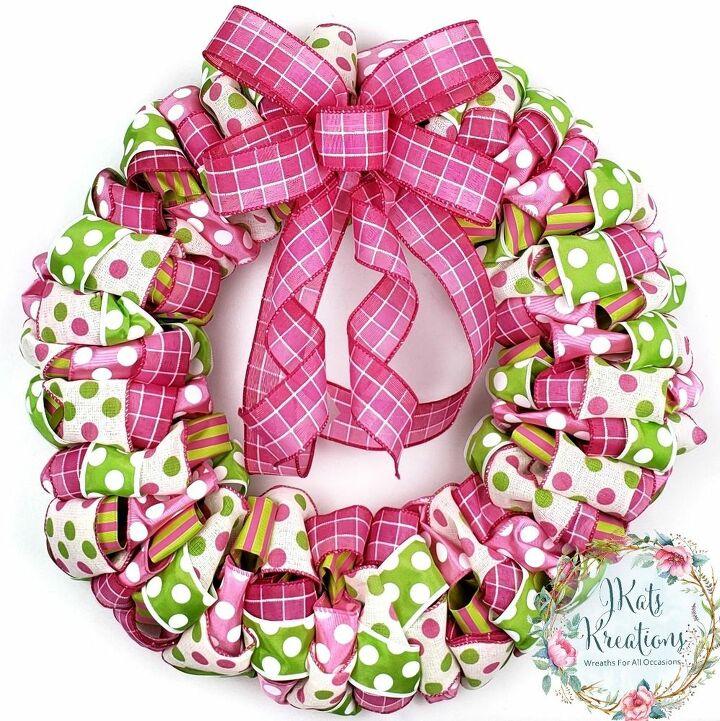 diy ribbon wreath how to make a ribbon wreath tutorial