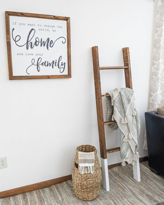 how to make a 5 blanket ladder