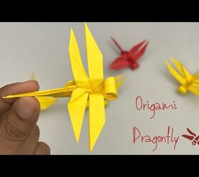 How to make a traditional origami dragonfly: page 1 | 250x280