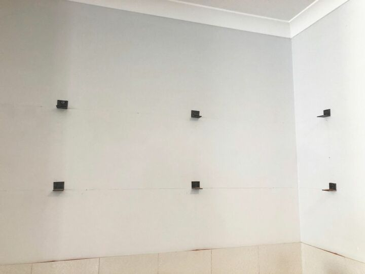 Brackets on the wall.