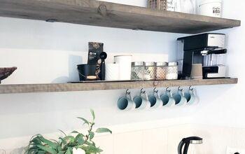 DIY Recycled Timber Shelves