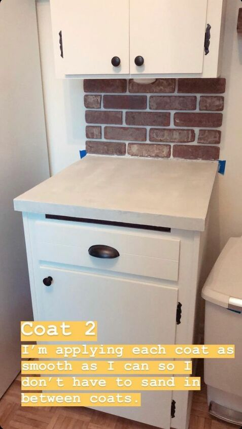 diy concrete overlay counters