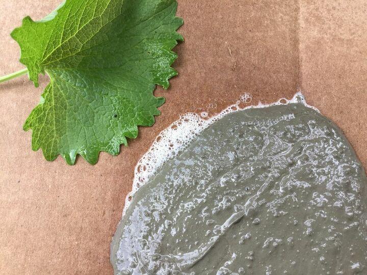 garden stone with leaf imprint