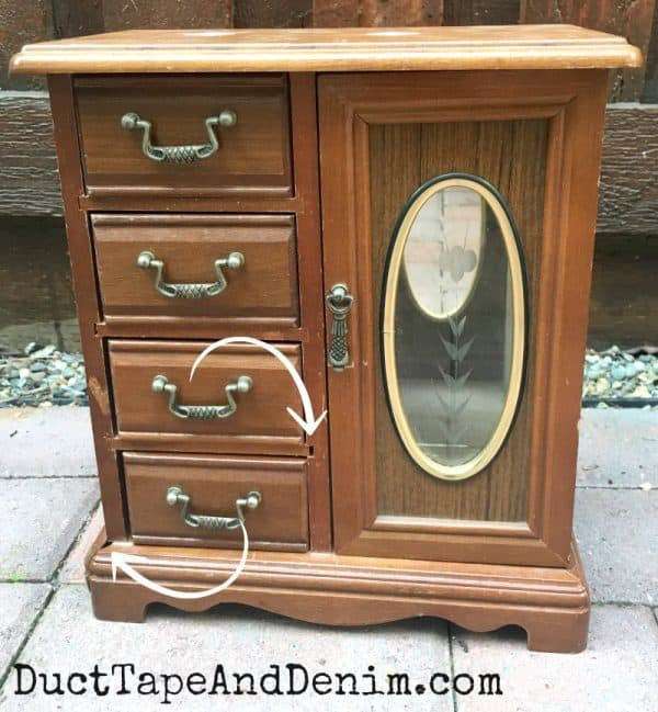 fixing a broken old thrift store jewelry box