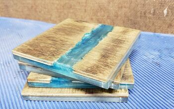 How to Make Creek Coasters From Plywood and Resin