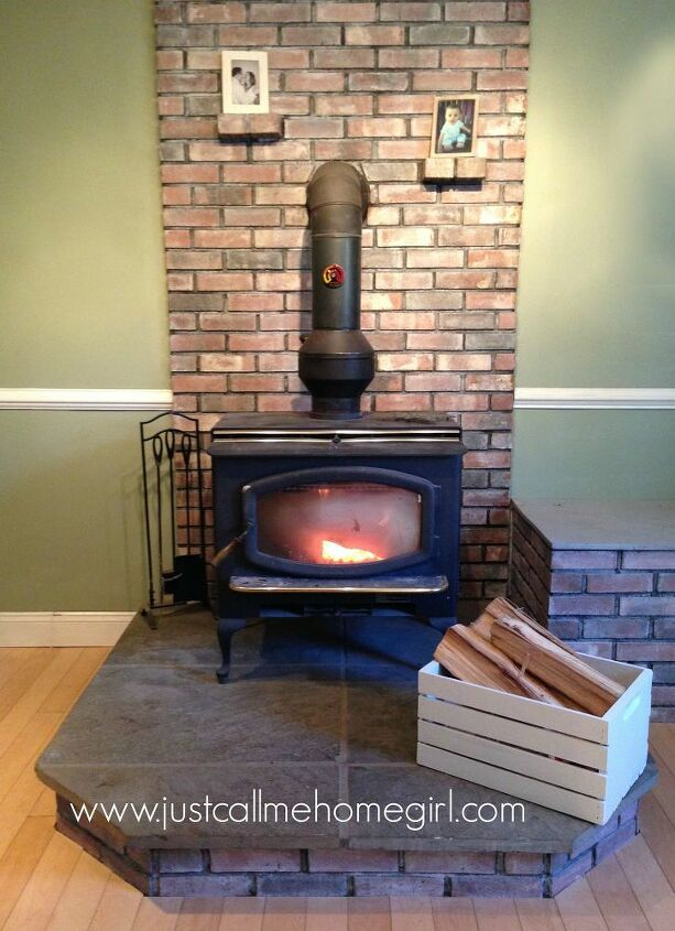 wood stove cabinet built in