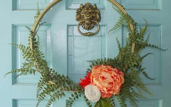 How to Make a Pretty Modern Floral Wreath