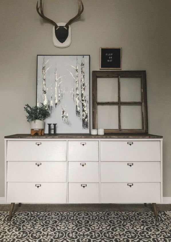 mid century meets rustic upcycle