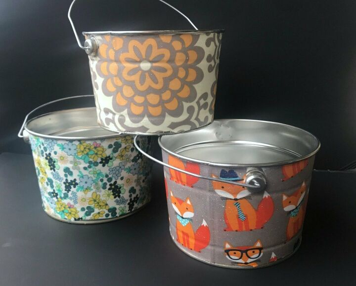 fabric covered buckets