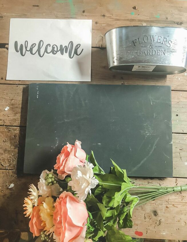 welcome wall planter sign