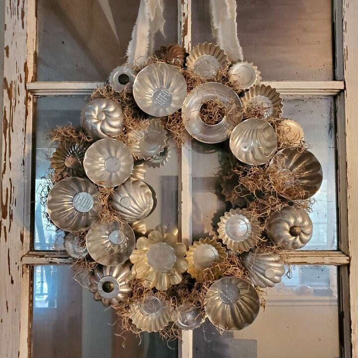 vintage tart tin wreath