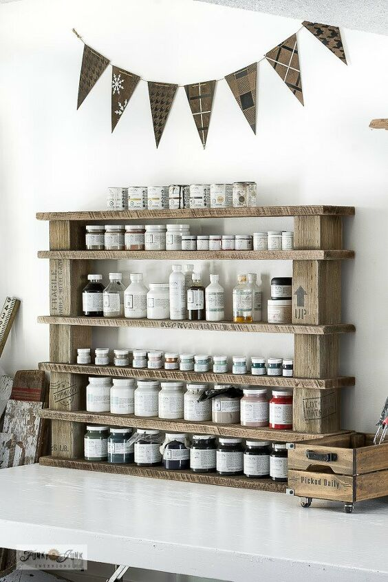 create an easy reclaimed wood shelf with no building required