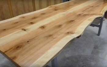 How To Make A Live Edge Wooden Dining Table