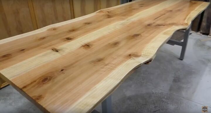 book matched live edge sequoia dining table