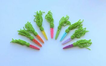 DIY Rainbow Clothespin Carrots