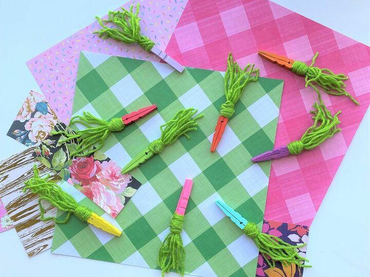 diy rainbow clothespin carrots