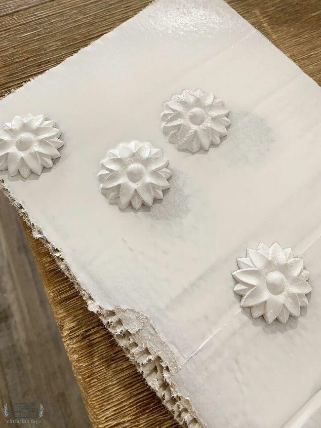 White Floral Wood Appliques