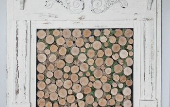 Birch Wood Fireplace Cover for a Faux Wood Fireplace Insert
