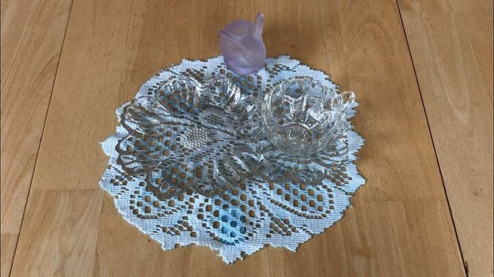 spring doilies dyed with food coloring
