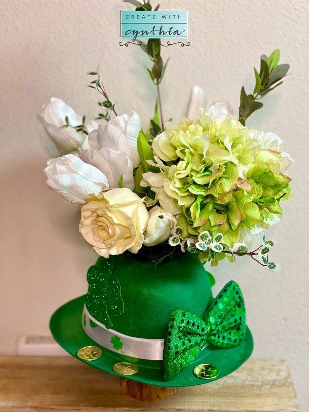 st patrick s day floral arrangement