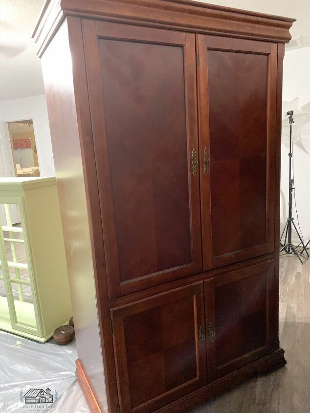 TV Armoire Cabinet Before