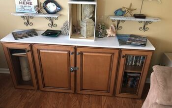 Kitchen Cabinets to Tv Console #spring2020refresh
