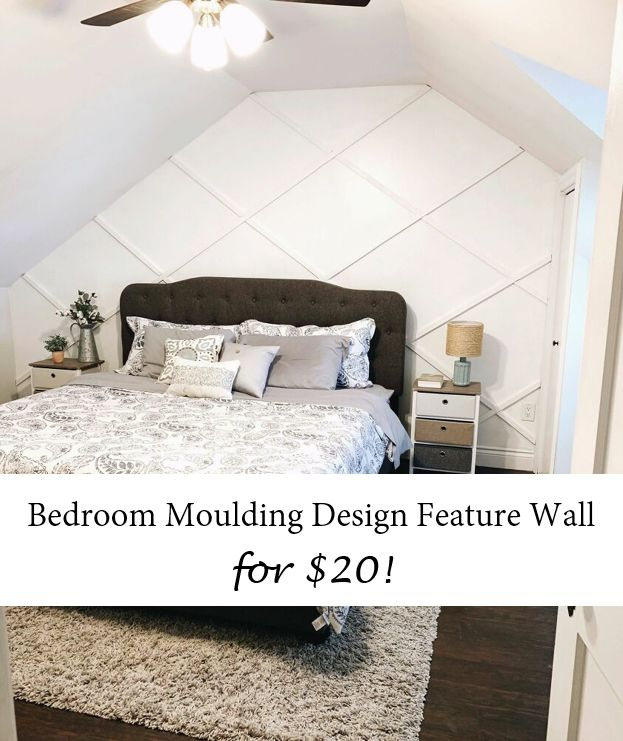 bedroom moulding design feature wall